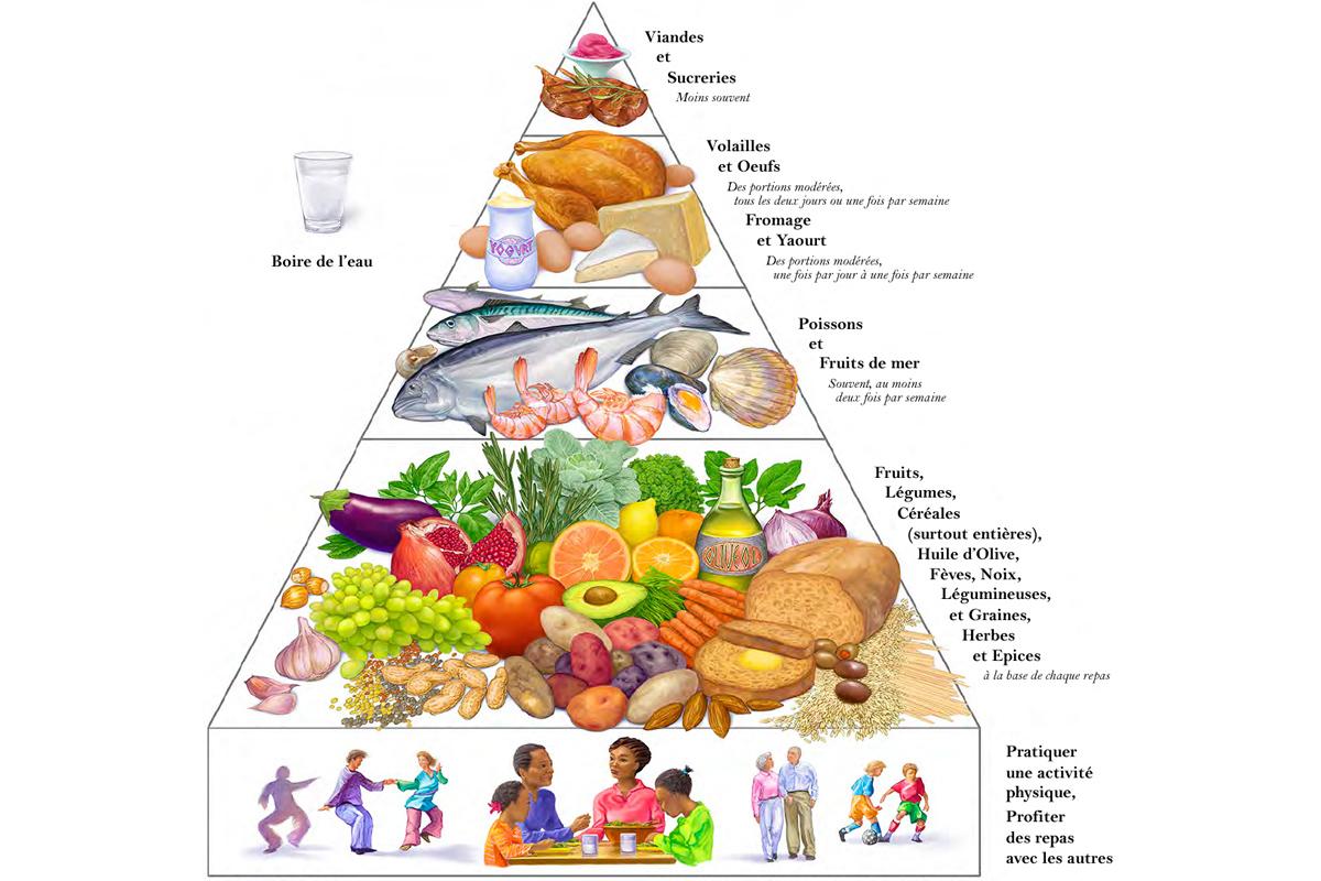 La pyramide du r gime m diterran en manger m diterran en - Recettes cuisine regime mediterraneen ...