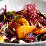 Salade aigre-douce de navets, betterave et orange