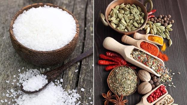 le sel pour les herbes et epices
