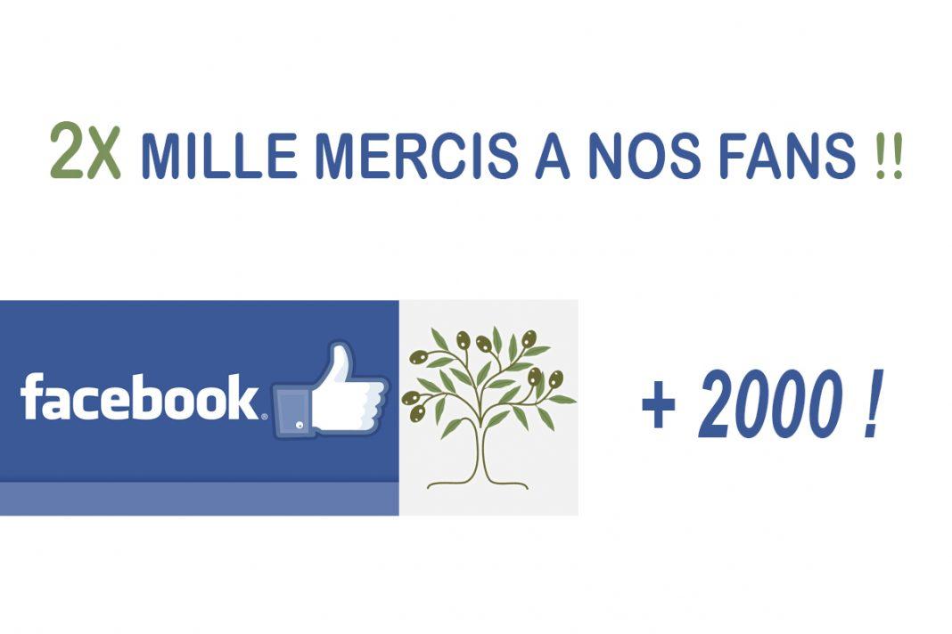2000 FANS FACEBOOK