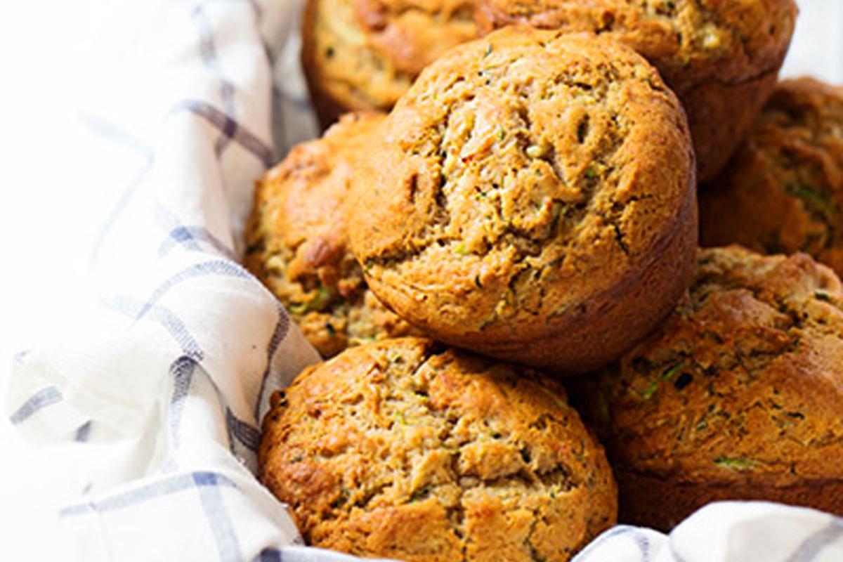 Muffins aux Courgettes, Huile d'Olive et Miel