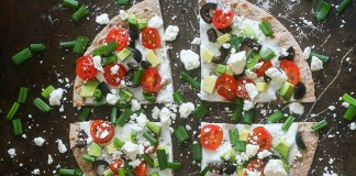 Pizza grecque aux légumes