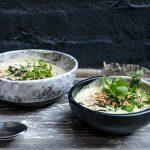 Soupe chou-fleur et noisette + sauge frite