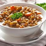Vendredi-soupe aux lentilles et salade