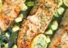 Saumon et courgettes aux herbes et au citron