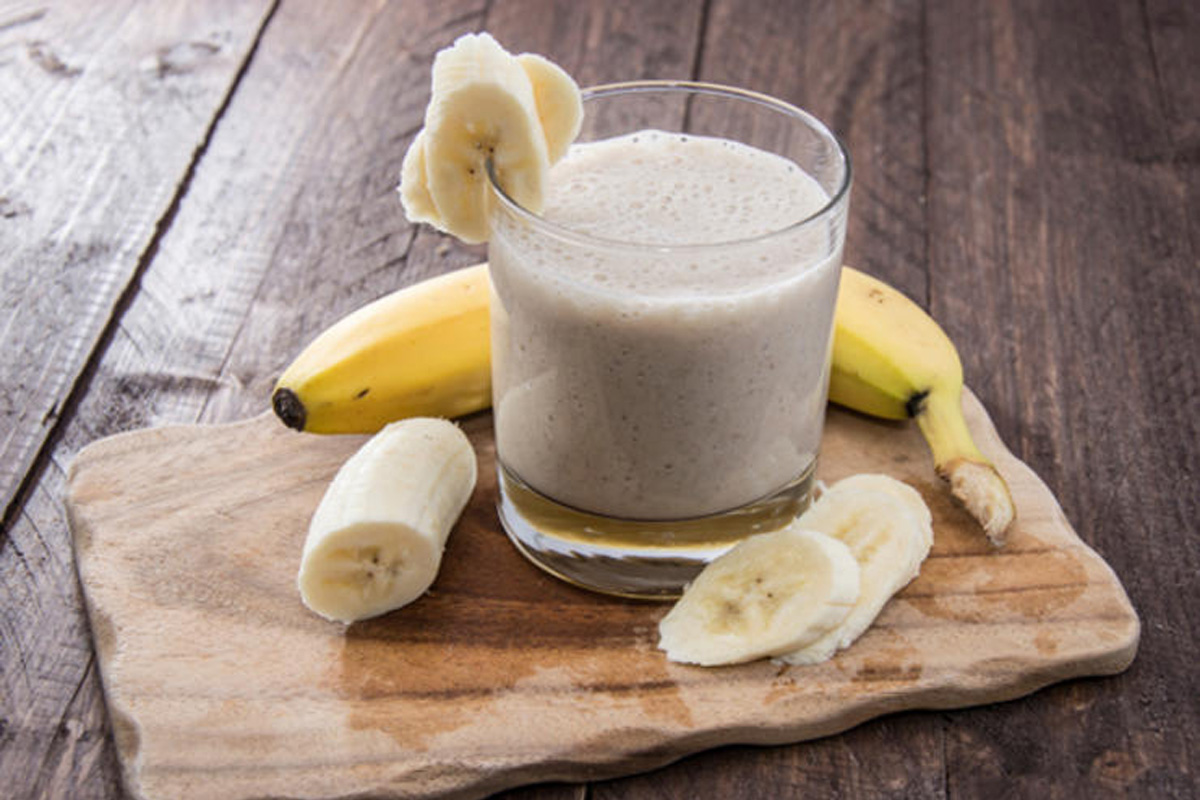 Smoothie banane gingembre