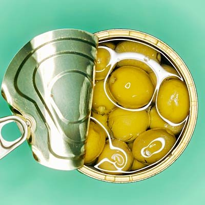 Les olives en conserve