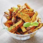 frites-patates douces cuites