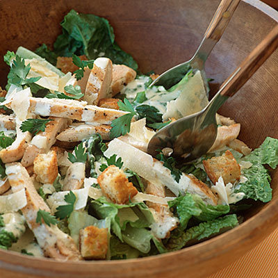 salade marocaine au poulet-salade Cesar classique