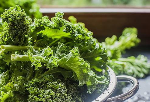 Les legumes verts feuillus