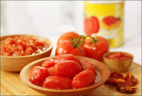 Les tomates en conserve