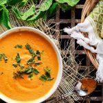 Soupe de carottes rôties au gingembre