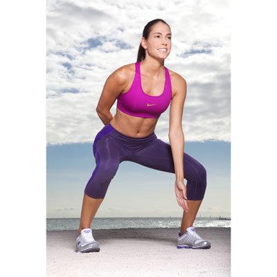 Squat lateral avec saut et changement de cote