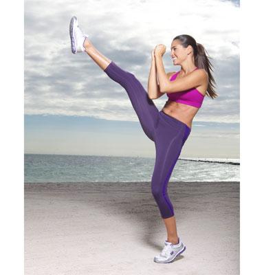 Fente inversée et extension avec coup de pied frontal