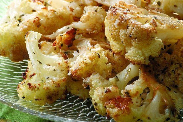 Chou-fleur rôti au parmesan et balsamique
