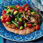 Salade grecque aux deux haricots