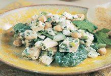 Salade de poulet aux pois chiches