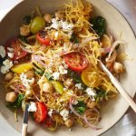 Spaghetti de courgette à la grecque