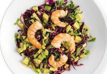 Salade légère de crevettes au sésame et à l'orange