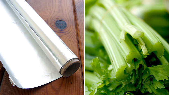 le-celeri-dans-du-papier-aluminium