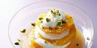 Napoléon d'orange au yaourt grec