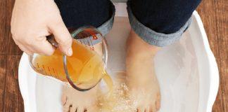 Les bienfaits d'un bain de pieds au vinaigre de cidre !