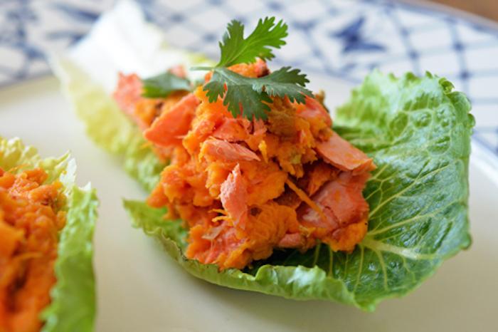 Wraps laitue saumon grille