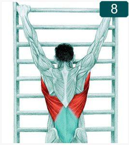 Étirement du dos avec traction spinale