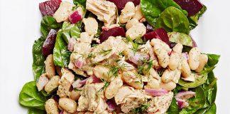 Salade de thon, haricots blancs et aneth