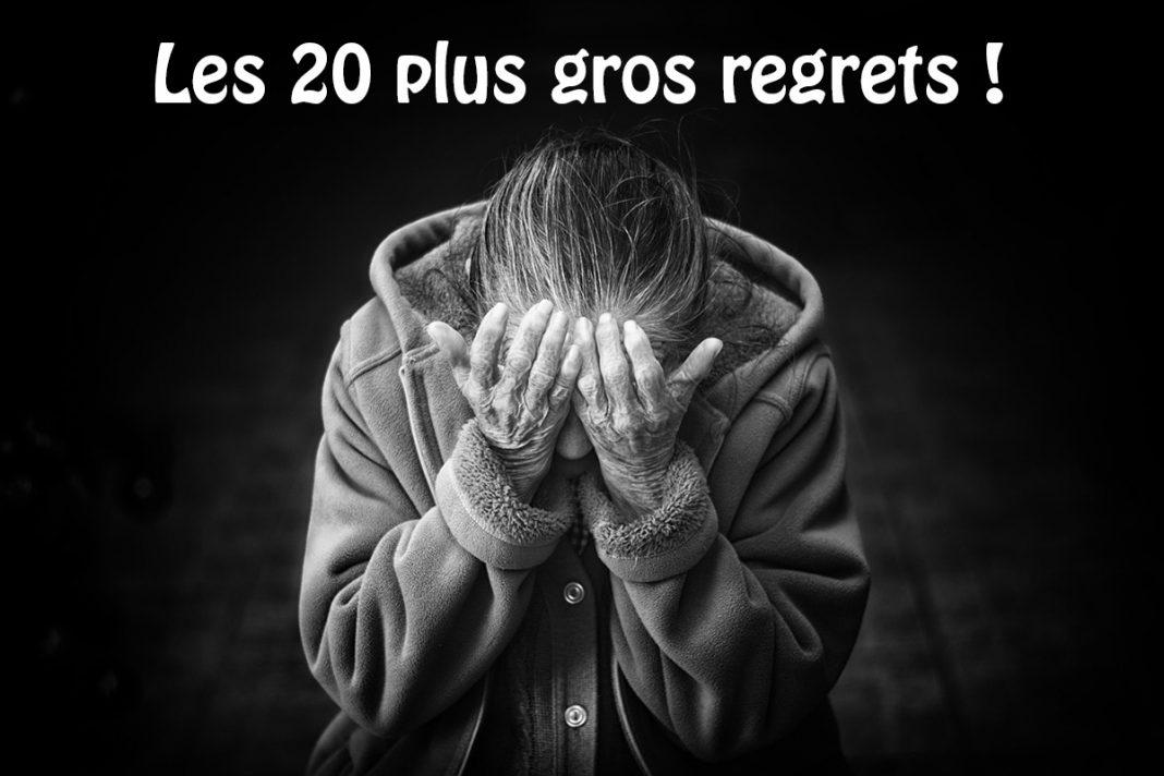 Les 20 plus gros regrets ! A méditer quand on est plus jeune…
