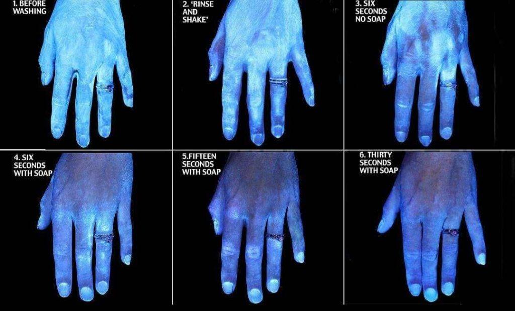 mains non lavees et mains lavees pendant trente secondes avec du savon-min