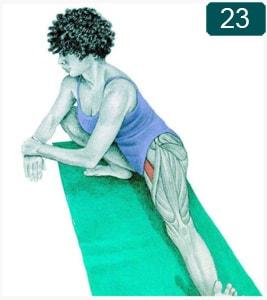 Posture de fente latérale large