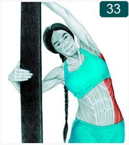 Flexion latérale au mur