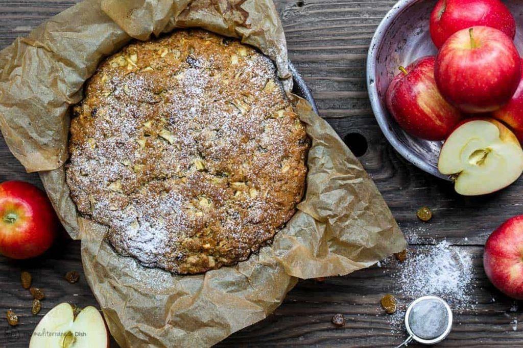 Gâteau italien aux pommes et à l'huile d'olive